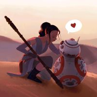 Droid love by mariposa-nocturna