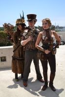 A Trio of Steampunk Attendees by Anime-Ray