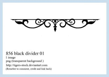 856 Black Divider 01 by Tigers-stock