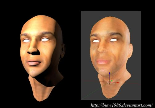 Male Head Skin by biew1986