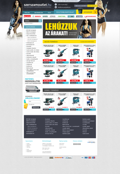 Szerszamoutlet webdesign by blinka