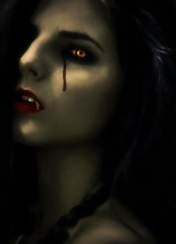 She Cries Bloody Tears by krissybdesigns