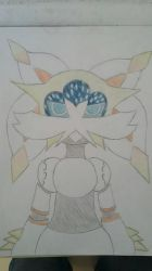 Lucario / Solgaleo Fusion Collab! by StarDust176