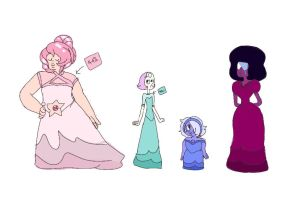 Rose and her bridesmaids by ScribblesofThings