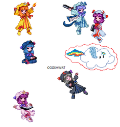 The Six Patchies by Wriggle-Kick