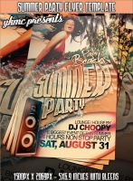 Summer Party FREE Flyer Template by yAniv-k