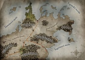 Fantasy Map by pelleron