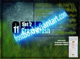 Grass Brush for GIMP SET 2 by FrostBo