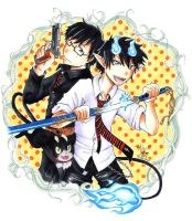 Blue Exorcist by frostyshark