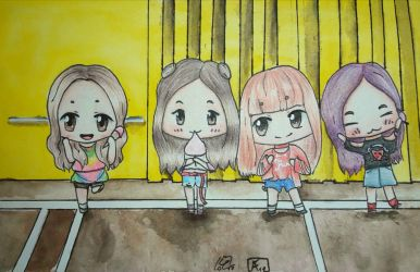 Blackpink As if it's your Last Chibi Fanart by AneoFluff