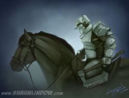 Plate Mail Knight by uncle-shaun