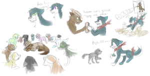Potaoe infection scenes sketches by Gameaddict1234