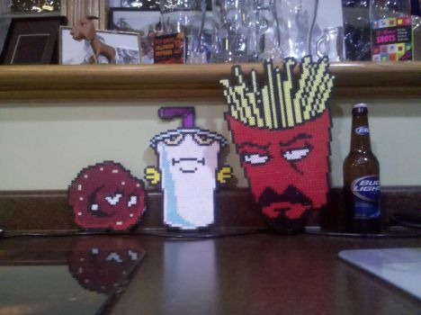 Aqua Teen Hunger Force Perler by vudumonkey25