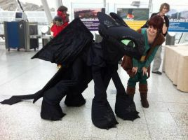 Toothless and Hiccup by TheEmpiresGuild