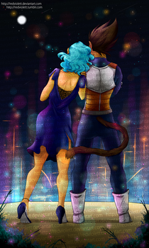 DBZ - Bulma/Vegeta - Like A New Years Eve by RedViolett