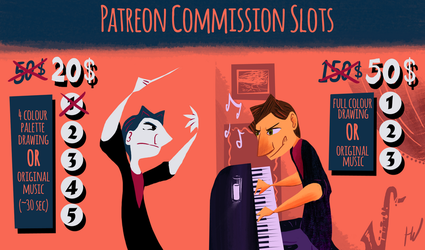 Patreon Commission Slots by Toxodentrail