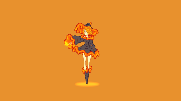 Dancing Lava Witch by wyvernsmasher