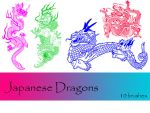 Japanese Dragons by TD-Brushes