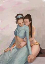Leia and Padme by Mikesw1234
