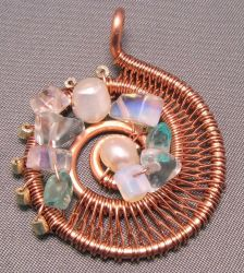 Wire Spiral Pendant by Emarah