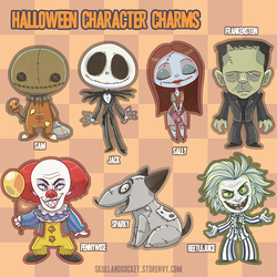 Halloween Character Charms by weird-science