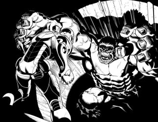 Hulk 2 Double page spread. by DexterVines