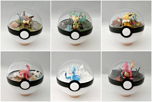 Poke Ball Terrariums by TheVintageRealm
