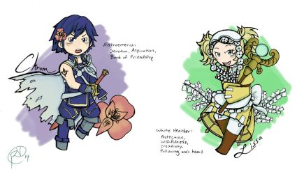 FE Flowers: Chrom and Lissa by SamuelFuery