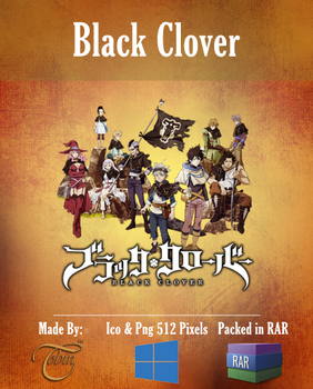 Black Clover v3 - Anime Icon Folder by Tobinami