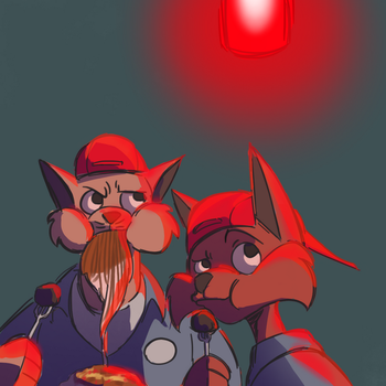 Daily Doodle: Swat Kats Dinner by CountDraggula