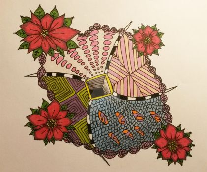 Flower zentangle by tazzie76