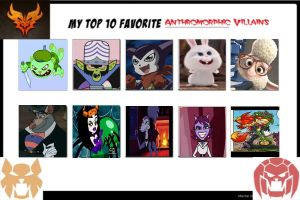 Top 10 Anthromorphic Villains by coralinefan4ever