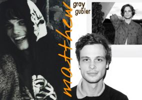 Matthew Gray Gubler B'n'W by criminal-who