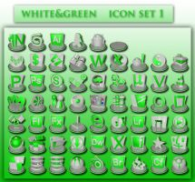 white and green icons set 1 by xylomon