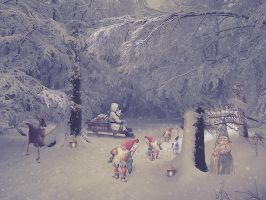 christmas gnomes by poisen2014