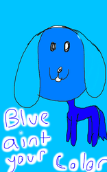 Blue ain't your color Doggy! by StampyWolf999