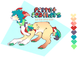 Starfloof adobtable: parrot feathers open by Kyldrun