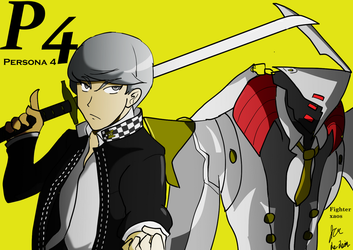 Yu Narukami and Izanagi no Okami by fighterxaos