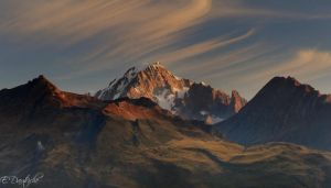 South face of the Mont-Blanc by emmanueldautriche