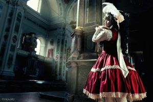 Elodie Doll in the Church II by FANUxSIRI