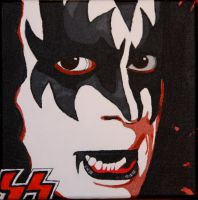 Gene Simmons Painting 2 of 4 by obsessiveone1