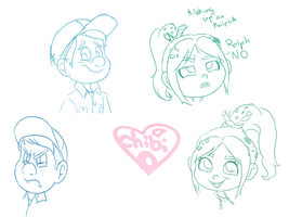 Felix and Vanellope by ChibiObsessor122