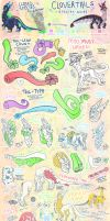 ~Clovertails~ Closed Species Visual Trait Guide by Witchin