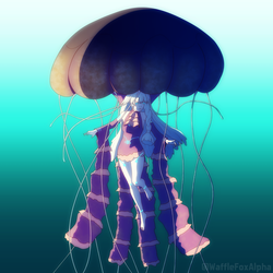 black sea nettle LUMi by WaffleFoxAlpha