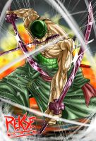 Roronoa Zoro Black Sword mode by reksoy