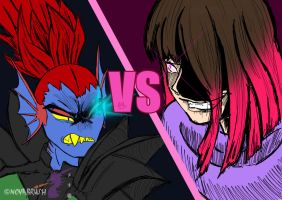 Undyne VS Betty by NovaBrush