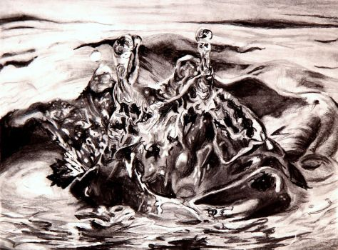 Water in charcoal by SurpassingSolitude