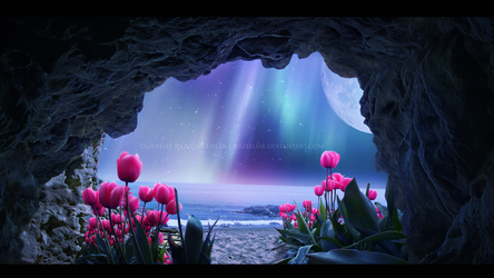 Tulips Island III - Mystic Night by Ellysiumn