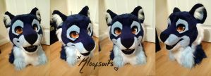 Cobalt Fursuit Head by Kloofcat