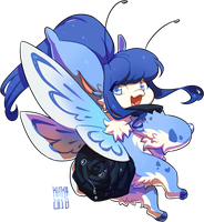 REBASE - #351 Adonis Blue Butterfly by Kitkabean
